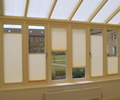 'Double float' conservatory blinds