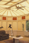 Solar coated conservatory blinds