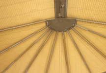 Conservatory roof blinds in butterscotch